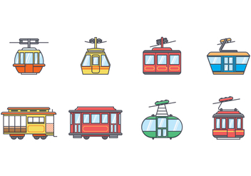 Free Cable Car Vector - vector gratuit(e) #377277