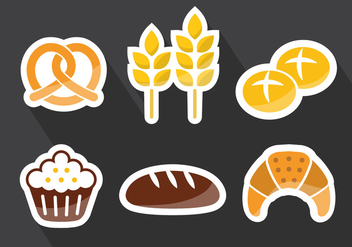 Bread Rolls Vector Illustration - Free vector #377297