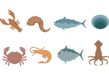 Free Seafood Icon - Free vector #377347