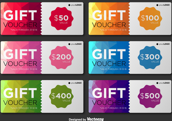 Modern Gift Voucher Vector Templates - Free vector #377387