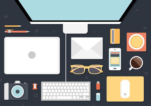Free Modern Office Interior Vector Background - vector gratuit(e) #377407