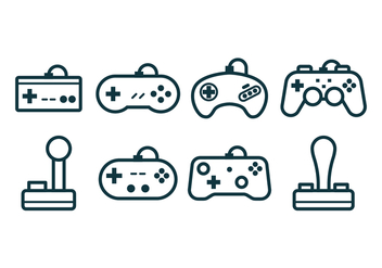 Free Gaming Joystick Icons - Kostenloses vector #377557