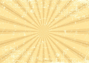 Grunge Sunburst Vector Background - Kostenloses vector #377657
