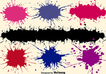 Vector Paint Splashes Set - vector gratuit #377737