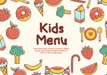 Free Kids Menu Vectors - Kostenloses vector #378047