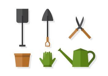 Vector Gardening Elements - Kostenloses vector #378217