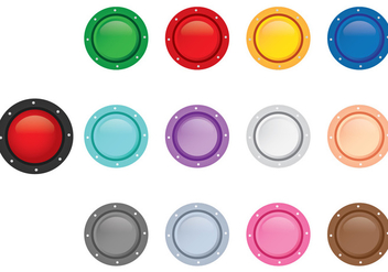 Arcade Button Top View - vector gratuit #378237