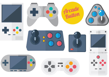 Free Arcade Button Icons Vector - vector gratuit #378277