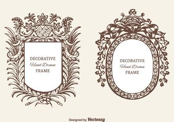 Free Decorative Cartouche Vector Set - Free vector #378467