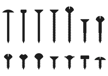 Nail Head Silhouette - Free vector #378547