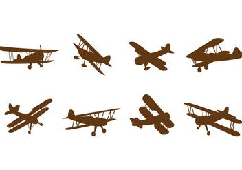 Free Biplane Vectors - Free vector #378607