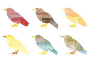 Vector Watercolor Bird Collection - Free vector #378737