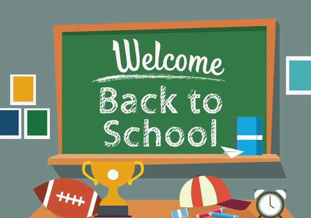 Free Back to School Vector Illustration - vector gratuit #378987