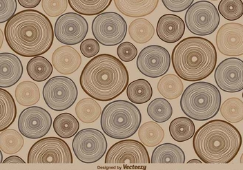 Vector Retro Tree Rings Pattern Illustration - Free vector #379037