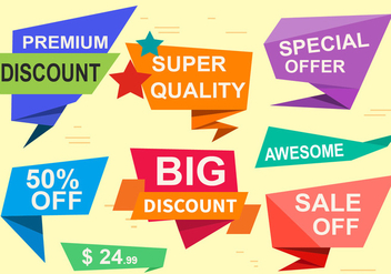 Free Special Offer Vector Labels - vector gratuit #379207
