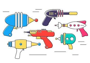 Free Vector Laser Guns - Free vector #379387