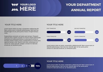 Free Annual Report Vector Presentation 13 - бесплатный vector #379407