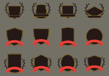 Blason Template Icon Set - Free vector #379417