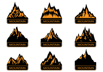 Mountains Landmark Silhouette - vector gratuit #379587