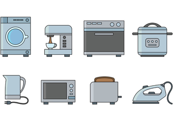 Set Of Appliance Vector Icon - Kostenloses vector #379597