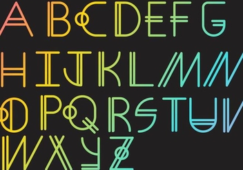 Letras - Geometric Set - Free vector #379657