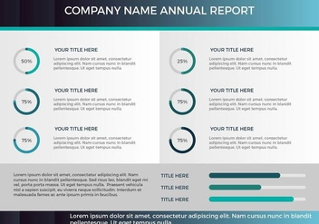 Free Annual Report Vector Presentation 17 - бесплатный vector #379667