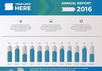 Free Annual Report Vector Presentation 14 - Free vector #379677