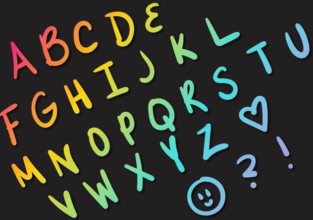 Letras Letters Alphabet Set A - Kostenloses vector #379787