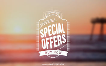 Special offers sticker - vector #379817 gratis