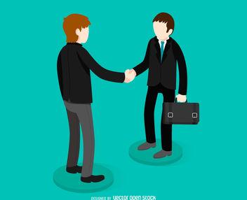 Business handshake illustration - Free vector #379827
