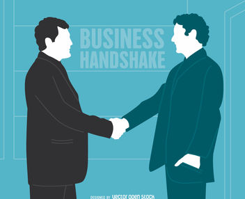 Business handshake illustration - Free vector #380067