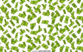 Money falling illustration - vector gratuit #380147
