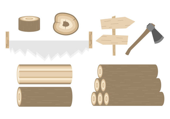 Free Wood Logs Vector - vector #380217 gratis