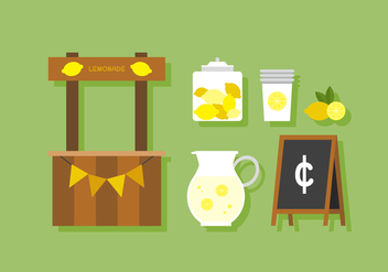 Vector Lemonade Stand - Free vector #380397