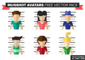 Mugshot Avatars Free Vector Pack - Free vector #380627