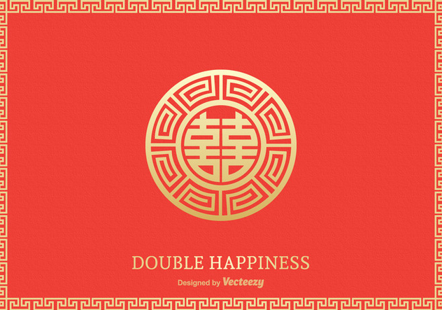 Free Double Happiness Symbol Vector Design - Free vector #380667
