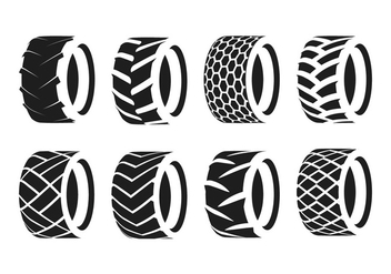 Tractor Tire Silhouette - Free vector #380877