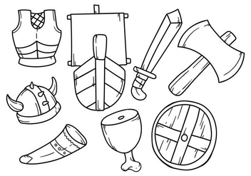 Free Hand Drawing Viking Icon - Free vector #380897