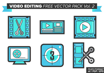 Video Editing Free Vector Pack Vol. 2 - Kostenloses vector #380907