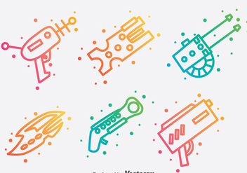 Laser Gun Collection vector - Kostenloses vector #381037