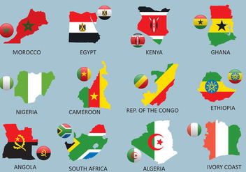 Africa Maps - Free vector #381237