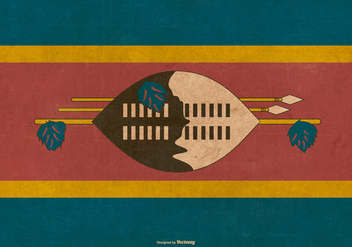 Grunge Flag of Swaziland - vector gratuit #381277