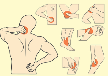 Pain Illustration Set - Free vector #381297