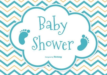 Baby Shower Card - vector #381377 gratis