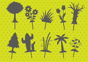 Plant Shadow Puppets - Free vector #381397