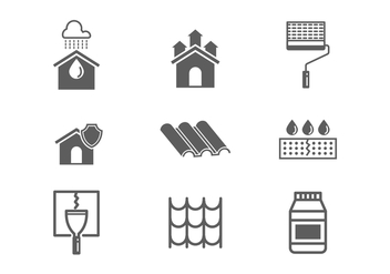 Free Waterproofing and Water Leaked Vector Icons - vector gratuit #381507