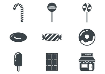 Free Candy Shop Icons Vector - vector gratuit #381587