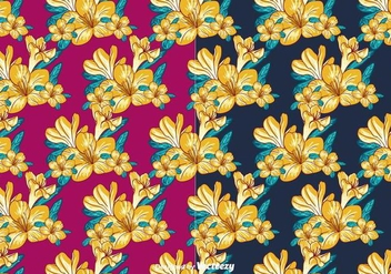 Floral Pattern Vector - Free vector #381877