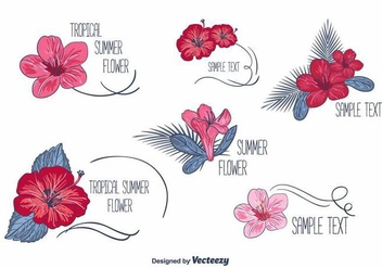 Floral Labels Vectors - Free vector #382097