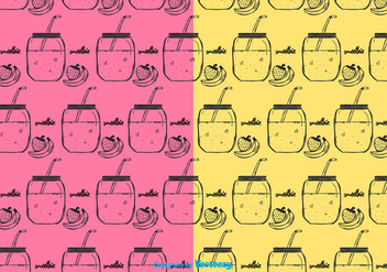 Smoothie Pattern Vector - Free vector #382147